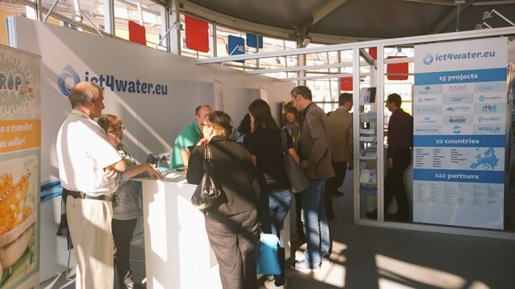 ICT4Water stand in ICT2015 paviljoen in Lissabon